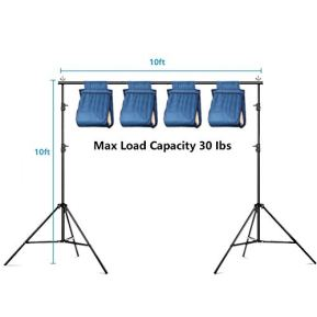 MOUNTDOG-92-x-10ft-Photo-Video-Studio-Backdrop-Background-Support-Stand-Adjustable-Heavy-Duty-Photography-Background-Support-System-Kit-with-Carrying-Bag