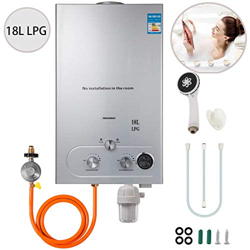 VEVOR 18L Upgrade Type Tankless Propane Water Heater 4.8GPM Propane Hot...