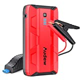 Audew 1000A Peak Car Jump Starter (Up to 8.0L Gas or 5.0L Diesel Engine) Portable Jump Pack, Auto Battery Booster, 12V Car Jumper with Dual USB Ports and Flashlight