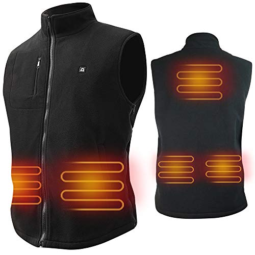 ARRIS Electric Heated Vest Size Adjustable 5V for Outdoor Camping Hiking (No Battery)
