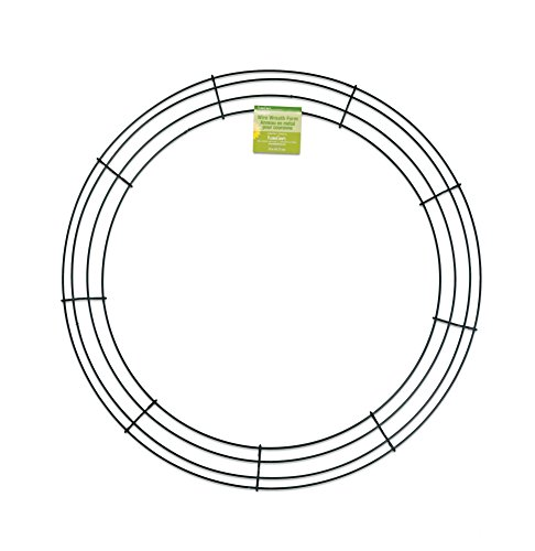 FloraCraft SimpleStyle 18 inch Wire Wreath, Green, 13 Gauge