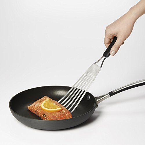 OXO 1130900 Fish Turner, Stainless Steel, Soft, Comfortable Grip 1/2