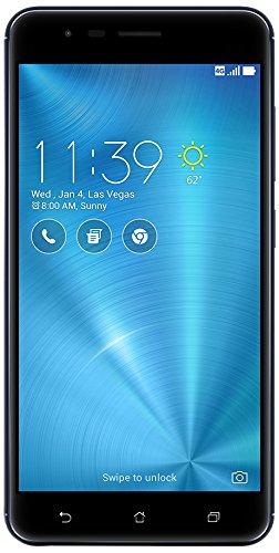 "ASUS ZE553KL-S625-3G32G-BK ZenFone 3 Zoom 5.5"" 3GB RAM, 32GB Storage LTE Unlocked Dual SIM Smartphone, Android Nougat 7.1 - Navy Black"