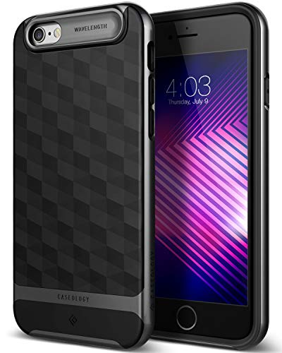 Caseology Parallax for iPhone 6S Case (2015) / iPhone 6 Case (2014) - Award Winning Design - Black/Black