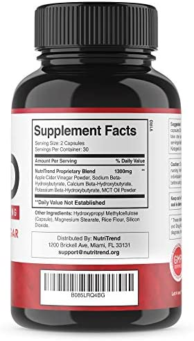 Keto Pills with Apple Cider Vinegar & MCT Oil, BHB Weight Loss Supplement, Detox Support and Immune Health, Manage Cravings & Improve Focus, Boost Energy & Metabolism - 30 Day Supply by NutriTrend 4