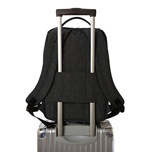 41MwwiI%2BMxL - WAABI-SAABI Polyester Grey Laptop Backpack