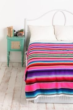 Party Sarape Mexican Serape Saltillo Blanket