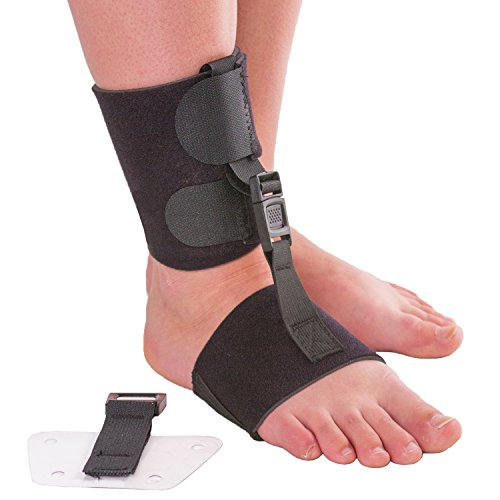 Soft AFO Foot Drop Brace | Ankle Foot Orthosis with Dorsiflexion Assist Strap Keeps Foot Up for...