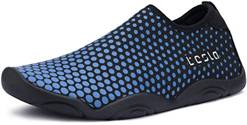 TSLA TF-BK30-BO_Men 9 D(M) Men's Trail Running Minimalist Barefoot Shoe BK30