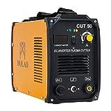 SUNCOO Cut 50 Plasma Cutter Electric DC Inverter Cutting Machine with Digital Display Dual Voltage 110/220V, 1/2' Clean Cut