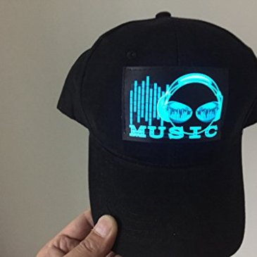 Dj LED Flashing Sound Activated Music Headphone Rave Light up Disco Hat Cap by accessory 4u inc