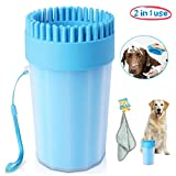 Upgrade Dog Paw Cleaner Large Dog Cleaner Portable with Towel Dog Cleaning Brush Paw Cleaner for Dogs and Cats