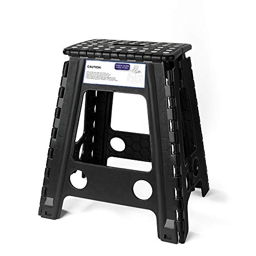 Acko Black 18 Inches Non Slip Folding Step Stool...