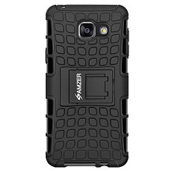 AMZER Slim Protective Shockproof Heavy Duty Hybrid Warrior Dual Layer Case for Samsung GALAXY A5 2016 SM-A510F - Black