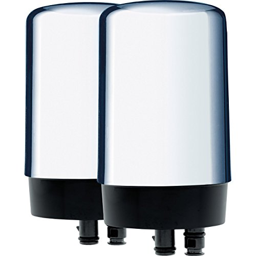 Brita Tap Water Filter, Water Filtration System Replacement Filters For Faucets, Reduces Lead, BPA Free - Chrome, 2 Count