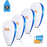 VEPOWER Electronic Ultrasonic Pest Repeller,Pest Repellent Control Plug in,Pest Defender for Reject Insects Mosquitoes Mice Spiders Ants Rats Bugs Roaches Rodent Non-Toxic for Humans & Pets(4 Packs)