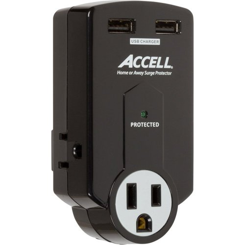 Accell 3-Outlet Travel Surge Protector...