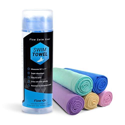 Flow Swim Chamois Towel - 26' x 17' (Blue)