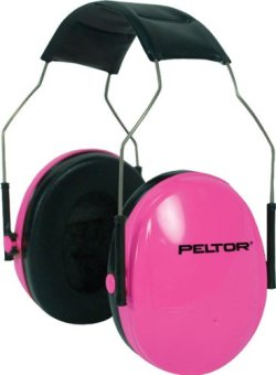 Peltor Sport Earmuffs, Pink, Small, 1/Pack