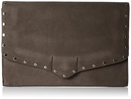 41NFIlmpVwL Biker-inspired clutch featuring flap closure trimmed in flat metallic studs