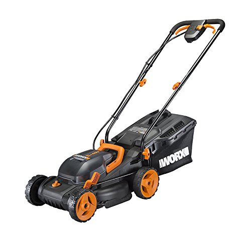 Worx WG779 40V (4.0AH) Cordless 14' Lawn Mower with Mulching Capabilities and Intellicut, Dual Charger, 2 Batteries