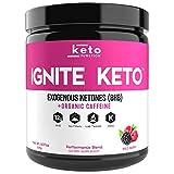 IGNITE KETO Energy Supplement - 12g BHB Salts plus Organic Caffeine - Ketone Drink for Ketosis, Energy, and Focus - Fuel a Ketogenic Diet - Best Beta Hydroxybutyrate Ketones Drink Powder Mix