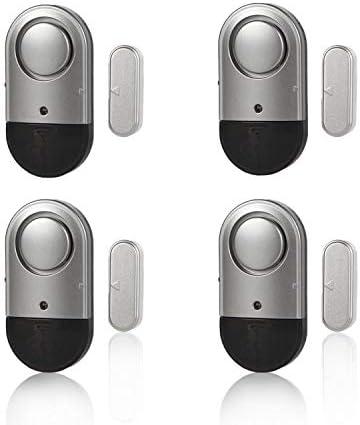 Door Window Alarm Home Security Magnetic Sensor Burglar Wireless 120dB Pool Alarms for Kids Safety, Women, Elders, Easy Installation, Batteries Included (4 Pack)