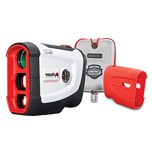 Bushnell Tour V4 Shift (Slope) Golf Laser Rangefinder, Patriot Pack Version, Includes Protective Skin