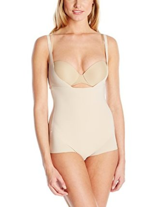 Maidenform Sleek Smoothers WYOB Bodybriefer Shapewear, Paris Nude, Large