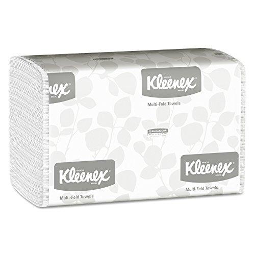 Kleenex 01890 Multi-Fold Paper Towels, 9 1/5 x 9 2/5, White, 150 per Pack (Case of 16 Packs)