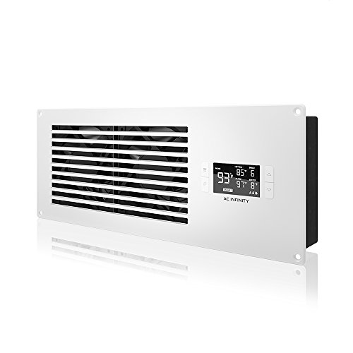 AC Infinity AIRFRAME T7 White, High-Airflow Cooling Fan System 16', Exhaust Airflow, for AV Equipment Rooms, Closets, and Enclosures