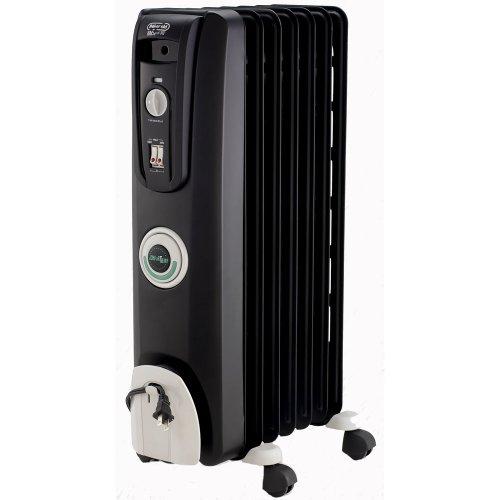 DeLonghi EW7707CB Safe Heat 1500W ComforTemp Portable Oil-Filled Radiator - Black
