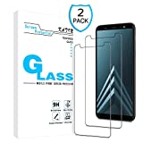 KATIN Galaxy A6 Plus 2018 Screen Protector - [2-Pack] Tempered Glass for Samsung Galaxy A6+ 2018 / Galaxy A6 Plus Bubble Free with Lifetime Replacement Warranty