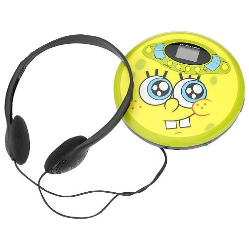Spongebob Squarepants 37062 Personal CD Player (Yellow)