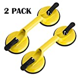 Heavy Duty Suction Cup Aluminum Vacuum Plate Double Handle Professional Glass Holder Hooks Mover Puller Lifter Gripper for Moving Large Glasses Mirror Granite Repair laminate floor gap fixer (2 Pack)