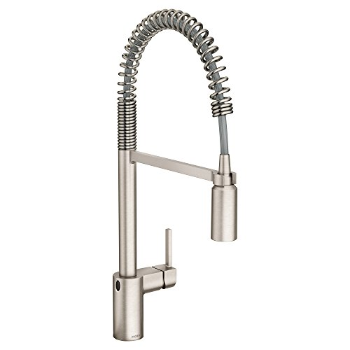 Moen 5923EWSRS Align One-Handle Spring Pulldown Kitchen Faucet with MotionSense Wave, Spot Resist Stainless