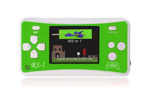E-MODS GAMING® RS-1 NEW! 8-Bit Retro 2.5' LCD 162x Video Games Portable Handheld Console (Green)