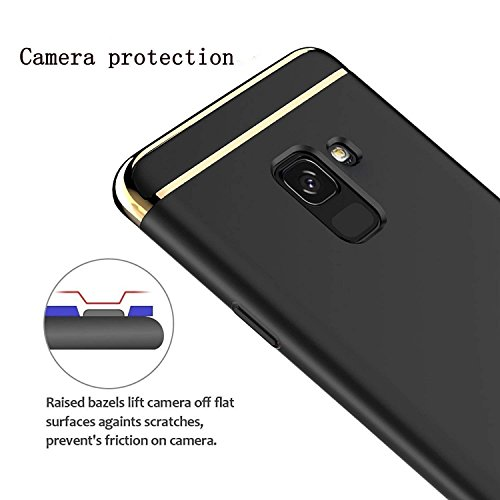 Explocart Premium 3 in 1 Back Cover for Samsung Galaxy J6 - (Black) 5