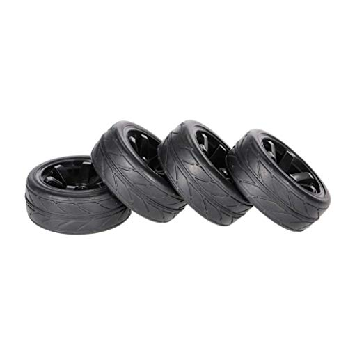 4pcs 1.8 Inch 65mm Off-Road Car Wheel Rim and Tire for 1/10 RC Car