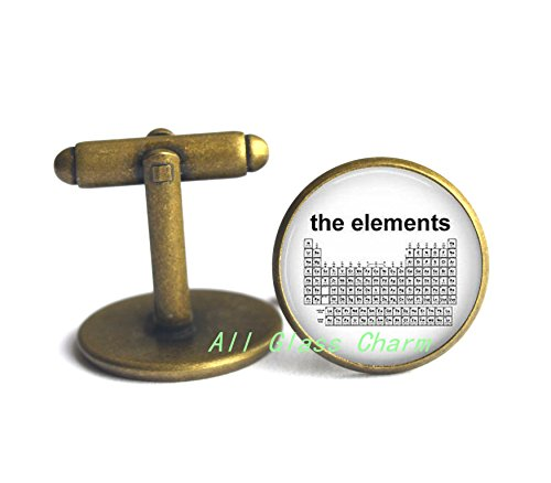 Charming Cufflinks,Periodic Table of The Elements - Science Jewelry - Chemistry - Elemental Table - Science Teacher - Chemicals,AS120