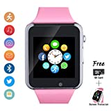 Bluetooth Smartwatch, Smart Watch with SIM Card Slot Text Call Reminder Camera Music Player Pedometer Compatible with Android Samsung and iPhone(Partial Functions) for Men Women Kids