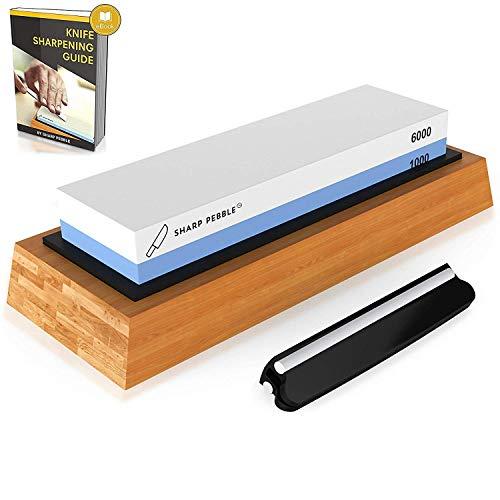 Sharp Pebble Premium Whetstone Knife Sharpening Stone 2 Side Grit...