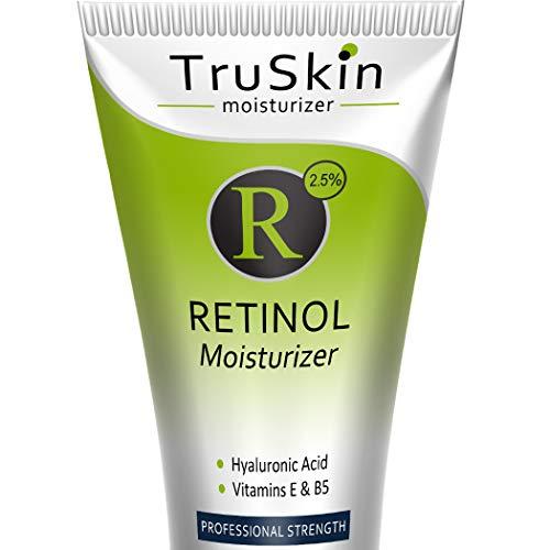 TruSkin RETINOL Cream MOISTURIZER for Face and Eye Area, Best for Wrinkles, Fine Lines - Vitamin A, E, B5, Hyaluronic Acid, Organic Jojoba Oil, Green Tea. 2 Fl Oz