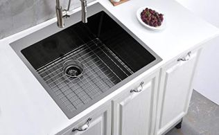 Friho-25x-22-Inch-Large-Topmount-Single-Bowl-Basin-Handmade-SUS304-18-Gauge-Stainless-Steel-Drop-in-Black-Kitchen-Sink-Commercial-Farmhouse-Kitchen-Sinks-with-Dish-Grid-and-Basket-Strainer