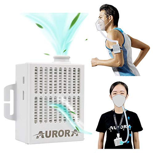 Portable Air Purifier with 5 Pcs Replacement 5-Ply, Rechargeable Reusable Wearable Personal Electrical Air Purifying…