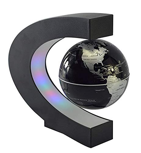 Lightahead Mysteriously Floating Rotating Magnetic Levitation Globe Suspended in Air (Black)