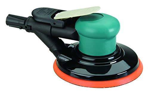 Dynabrade 59028 6-Inch Self-Generated Vacuum Dynorbital-Spirit Random Orbital Sander, Teal