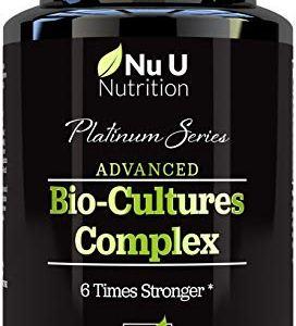 Bio-Cultures 5 Active Strains 60 Billion CFU Source Powder | 6 Times Stronger – 6 Billion Live CFUs | Multi Strain with Lactobacillus Acidophilus & Bifidobacterium for Adults | 60 Vegetarian Capsules