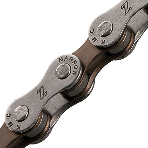 KMC Z50 Bicycle Chain (6-7-Speed, 1/2 x 3/32-Inch, 116L, Dark Silver/Brown)