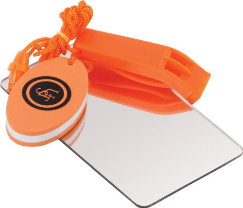 Amazon.com : UST Find-Me Signal Mirror We keep a couple sets of these with our PFDs and in our dinghy for rescue safety.